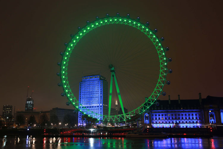 London Eye St Partrick's Day 2015