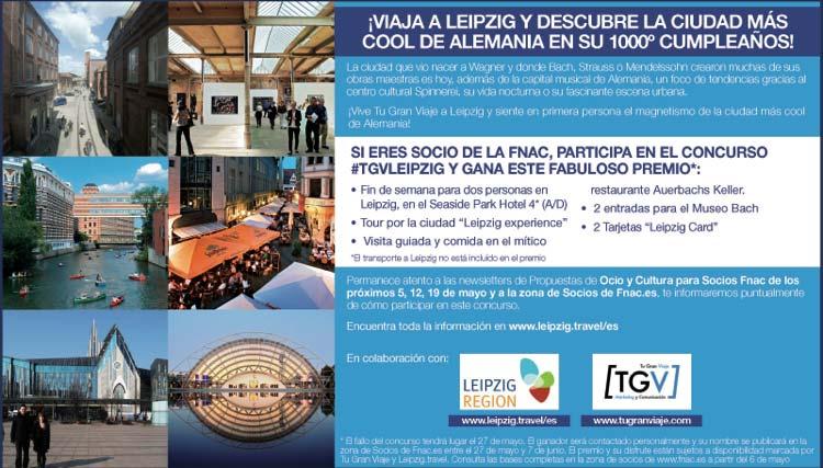 Concurso Tu Gran Viaje a Leipzig Socios Fnac