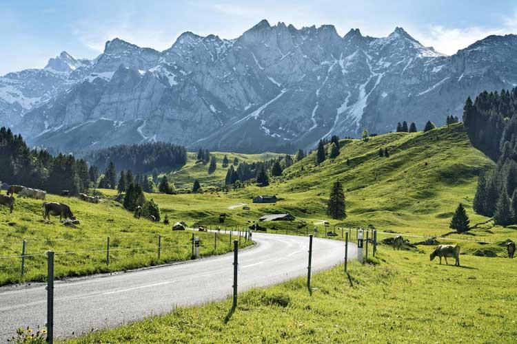 De camino por la ruta hacia Schwaegalp en Appenzell