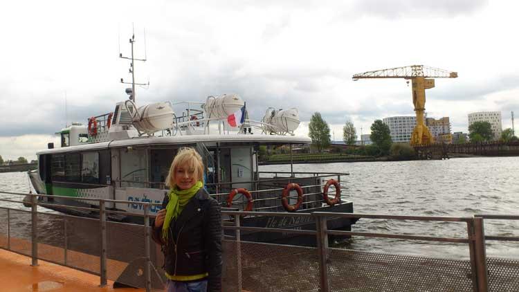 Pilar Carrizosa, la autora del reportaje, en Nantes