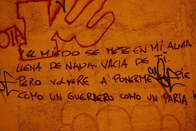 Poesía callejera tinerfeña. Foto © Jesús García Marín