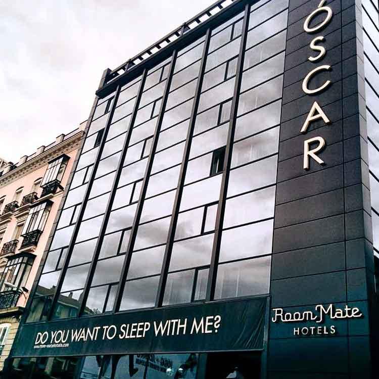 Fachada del Oscar Room Mate de Madrid. Foto © Tu Gran Viaje