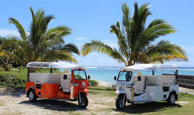 Tuk Tuk eléctricos de las Islas Cook