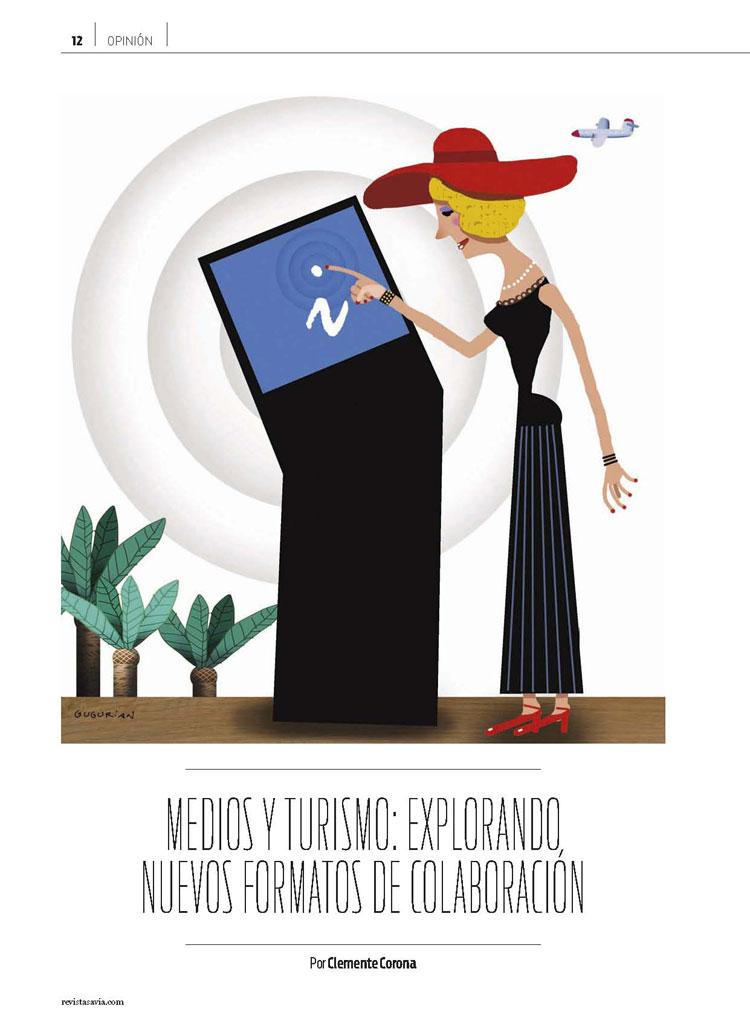 Medios y Turismo. Revista Savia. Clemente Corona. Agencia TGV LAB