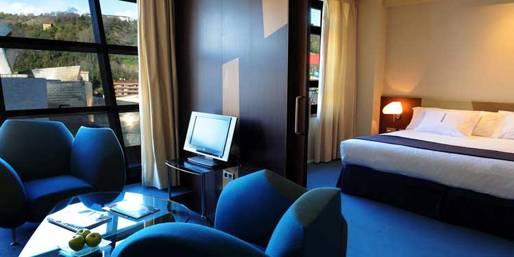 Junior Suite del Gran Hotel Domine Bilbao