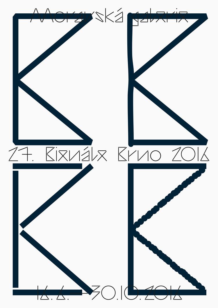Cartel de la Bienal Internacional de Diseño Gráfico de Brno
