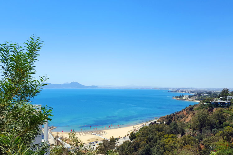 La bahía de Túnez, desde Sidi Bou Said. © Tu Gran Viaje