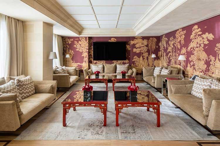 Salón principal de la Majestic Royal Penthouse del Majestic Spa & Hotel de Barcelona