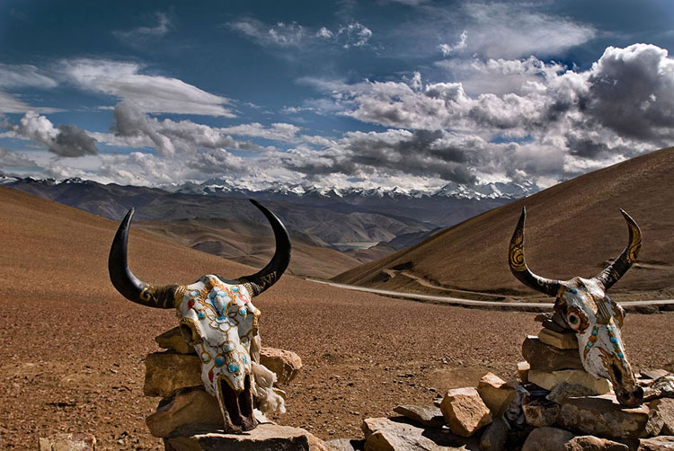 Himalaya desde el Paso de Gyalwu. © Ángel López-Soto