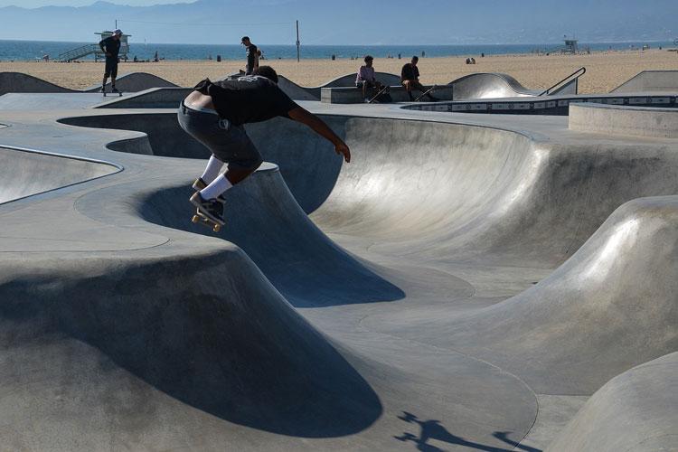 Skaters en Venice Beach. Las playas de Los Ángeles en Tu Gran Viaje