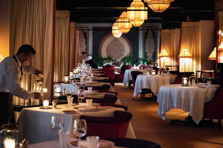 Restaurante Le Français. Hotel La Mamounia de Marrakech. Los mejores hoteles del mundo en Tu Gran Viaje