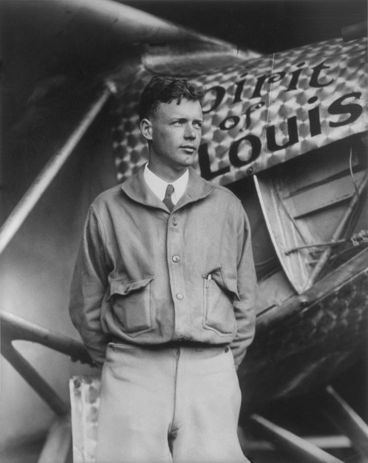 Charles Lindbergh y el legendario Spirit of Saint Louis
