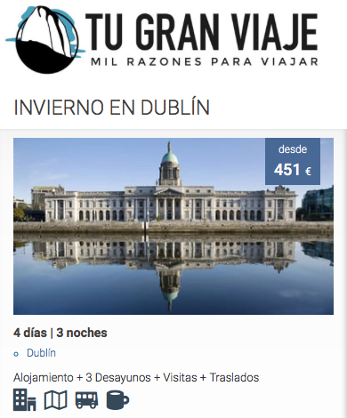 Oferta de viajes baratos a Dublin | Tu Gran Viaje