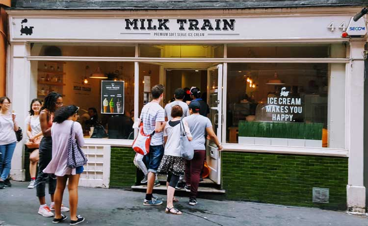 Milk Train Ice Cream London | La mejor street food de Londres | Revista Tu Gran Viaje