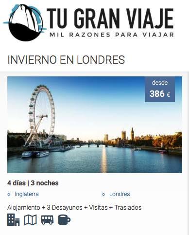 ofertas de viajes baratos a Londres con Tu Gran Viaje