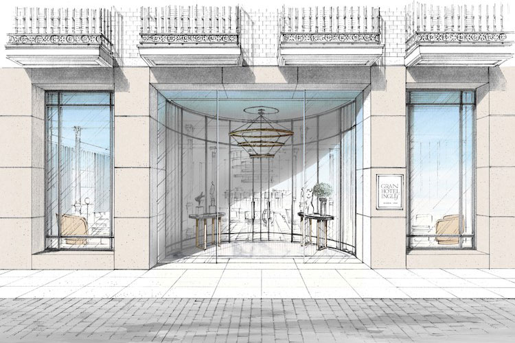 Gran Hotel Inglés, un hotel boutique de cinco estrellas situado en el número 8 de la calle Echegaray