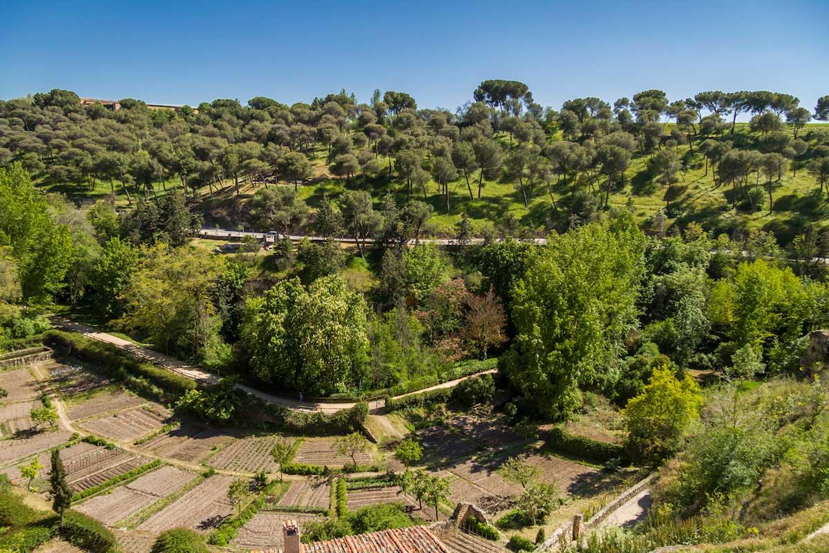 Paseando por la judería de España. Vista panorámica de la antigua necrópolis judía de Segovia. © Red de Juderías de España